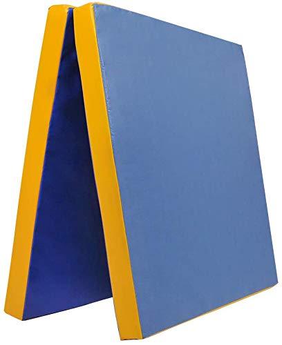 Klappbare Weichbodenmatte RG 35   BLAU - GELB   200 x 100 x 8 cm