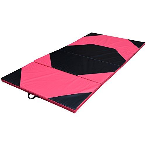 Enjoy.Fit Turnmatte Weichbodenmatte Gymnastikmatte 4-Fach klappbar 300x120x5cm oder 240x120x5cm (240x120x5cm)