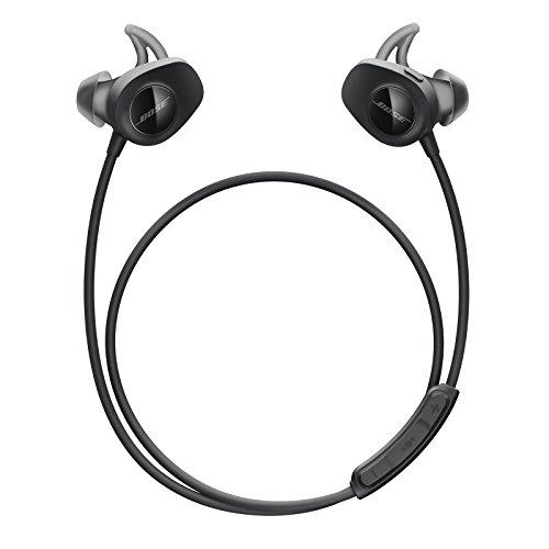 Bose SoundSport, kabellose Sport-Earbuds, (schweißresistente Bluetooth-Kopfhörer zum Joggen), Schwarz