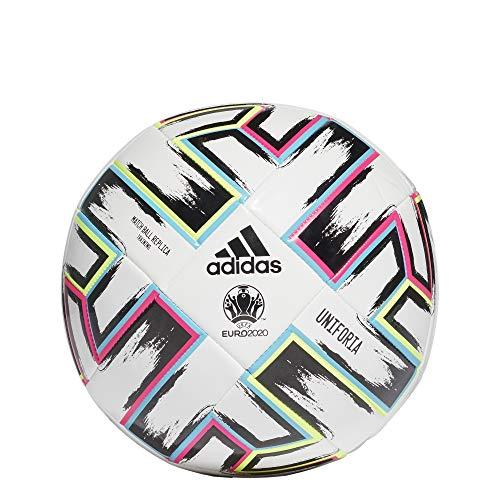 adidas Unisex-Adult Uniforia Ball, White/Black/Signal Green/Bright Cyan, 5