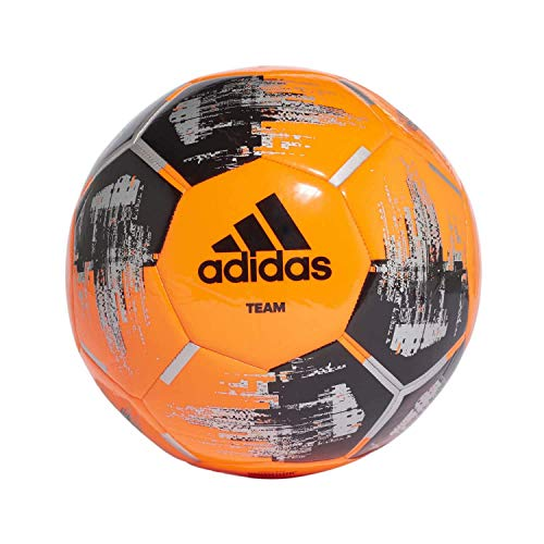 adidas Team Glider Fußball, solar orange/Black/Silver metallic, 5