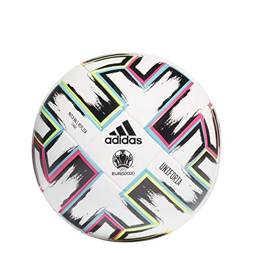 adidas FH7376 Unisex– Erwachsene UNIFORIA League Box Fußball, Weiß/Schwarz/Grün Signal/Hell Cyan, 5